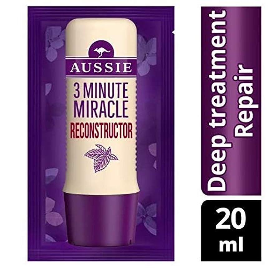 不可能な倍増立ち向かう[Aussie ] オーストラリアの深い治療3分の奇跡の再構成の20ミリリットル - Aussie Deep Treatment 3 Minute Miracle Reconstructor 20ml [並行輸入品]