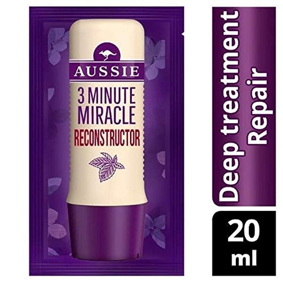 スナック徐々にリダクター[Aussie ] オーストラリアの深い治療3分の奇跡の再構成の20ミリリットル - Aussie Deep Treatment 3 Minute Miracle Reconstructor 20ml [並行輸入品]