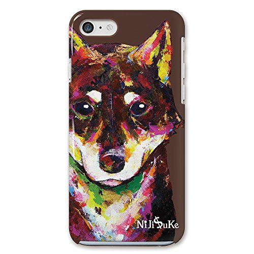 Nijisuke ( ニジスケ ) iPhone7 4.7 インチ ディスプレイ ケース カバー 柴犬 側面印刷 / スマホケース