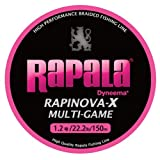 Rapala(ラパラ) PEライン ラピノヴァX マルチゲーム 150m 1.2号 22.2lb ピンク RLX150M12PK