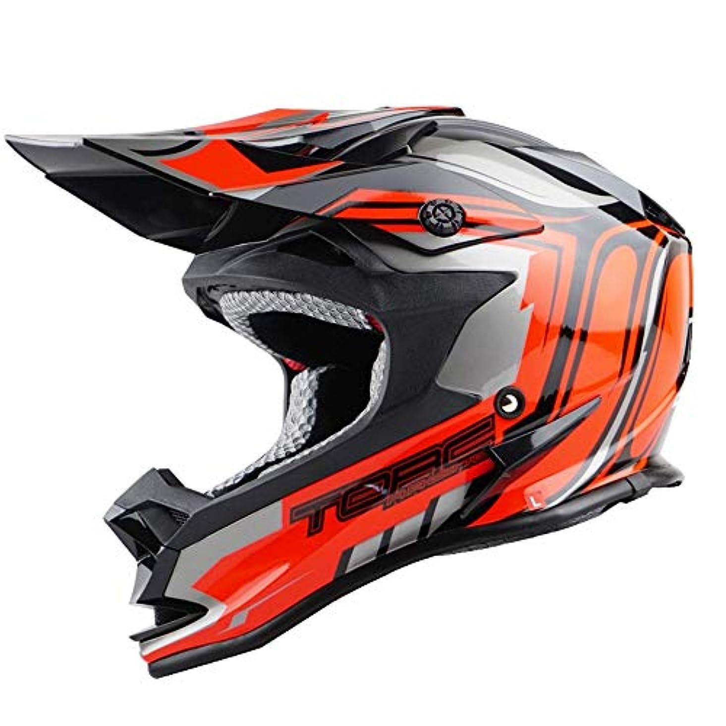 教腐食するブレンドHYH モトクロスヘルメットロードラリーヘルメットアウトドアレーシングヘルメットマウンテンバイクヘルメットブラック/レッド いい人生