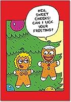 Sweet CheeksクリスマスFunnyカード 12 Christmas Card Pack (SKU:B5850)