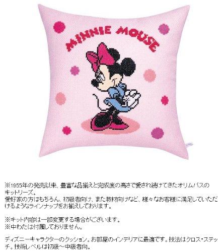 ディズニー 刺繍キット オリムパス クッション/ミニーマウス・水玉 ピンク /5995 [刺しゅうキット/ししゅ