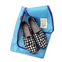 Summerys 携帯用旅行防水網の靴の収納袋の靴袋旅行の収納靴の袋 (Color : Blue)