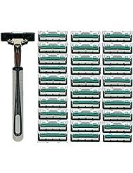 KOROWA髭剃り 男性カミソリ 替刃30個付 安全性 大容量 …