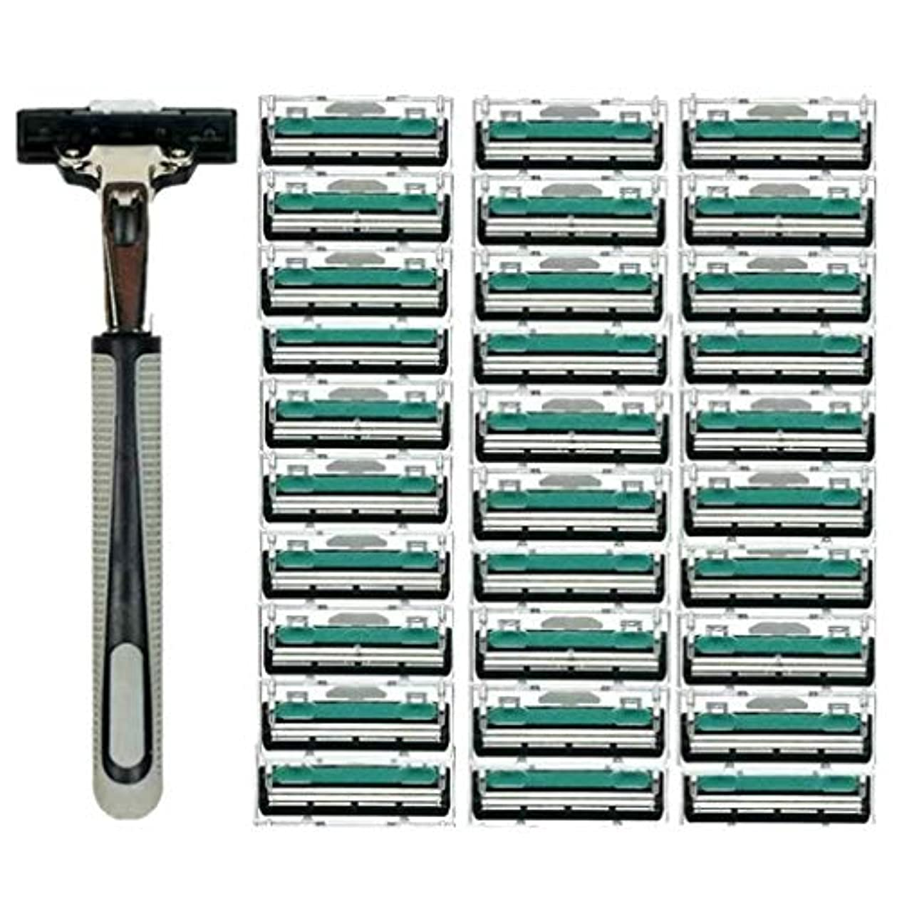 抱擁たくさん架空のKOROWA髭剃り 男性カミソリ 替刃30個付 安全性 大容量 …