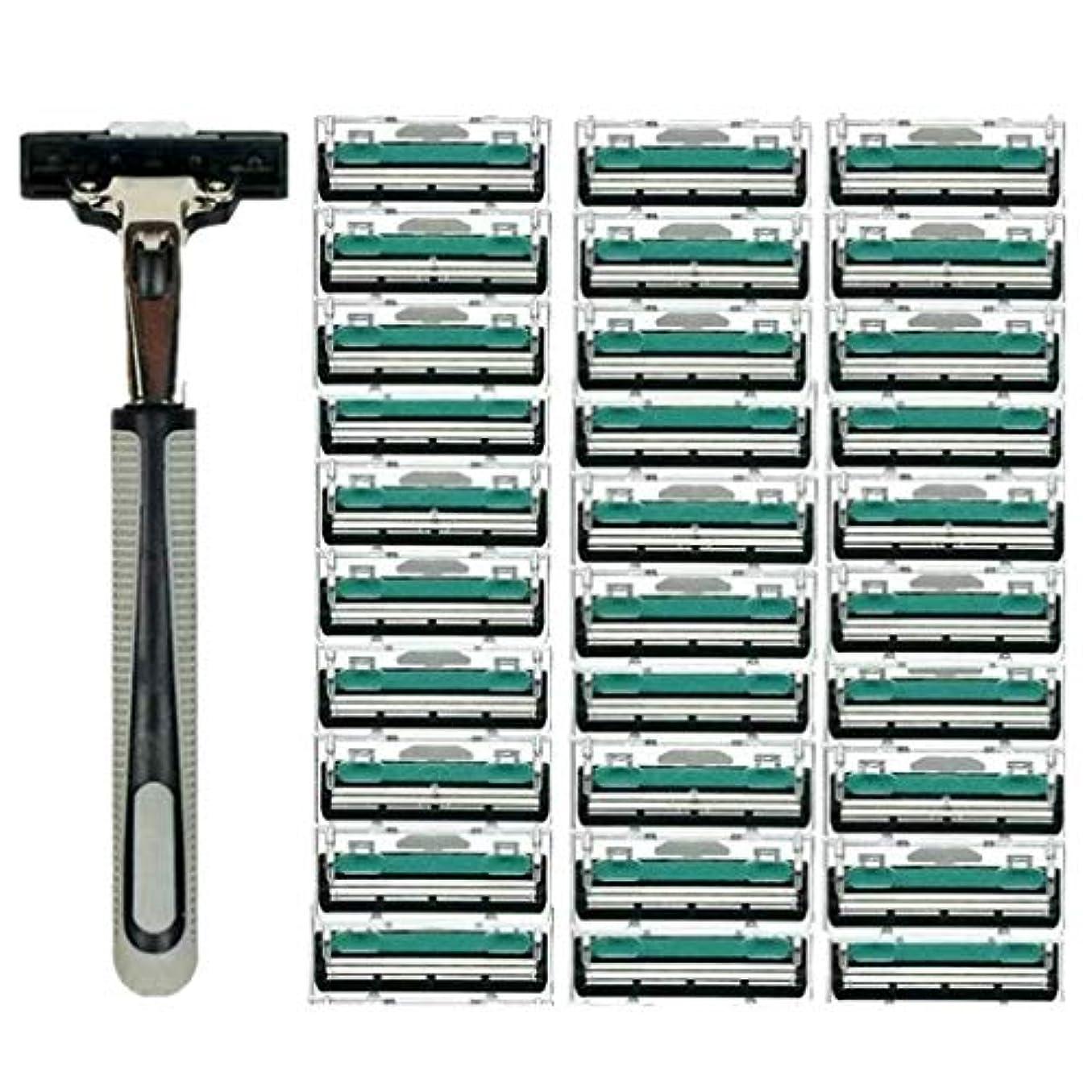 会計好意つぶやきKOROWA髭剃り 男性カミソリ 替刃30個付 安全性 大容量 …