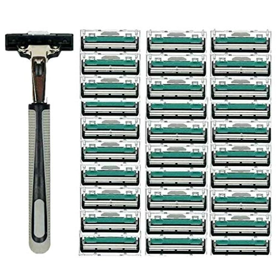 そのような喜ぶ意味のあるKOROWA髭剃り 男性カミソリ 替刃30個付 安全性 大容量 …