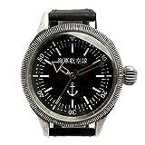 【ノーブランド品】復刻 数量限定在庫限り 正規品 海軍航空隊 699 本革 帝国海軍時計 ミリタリーウォッチ メンズ腕時計 AV025-BKB [並行輸入品]