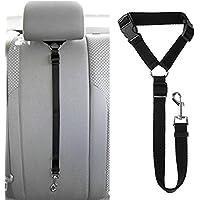 MKUTO ペット 犬用 猫 シートベルト ドライブ 車専用リード 安全ベルト 飛びつく防止 簡単装着(1本セット)