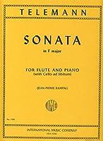 TELEMANN - Sonata en Fa Mayor para Flauta y Piano (Violoncello ad Lib.) (Rampal)