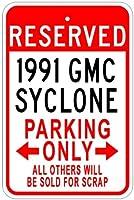199191GMCサイクロンアルミニウム駐車場サイン 10 x 14 Inches