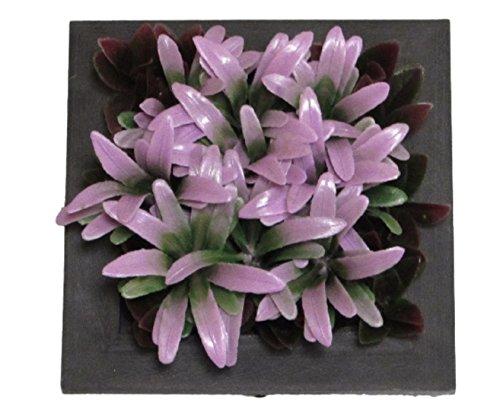 (ティーオー ニックナック) TO nicknack 造花 3D 立体 花 植物 壁 掛け プランター 飾り インテリア 雑貨 (ピンク パープル リーフ)