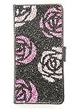 魔法の工房 iphone7plus ケース 手帳型 ストラップ 人気 iphone7plus手帳型ケース かわいい おしゃれ iphone7plus カード収納 液晶保護フィルム クリスタルローズ