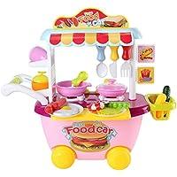 ホームキッチンピンクキッズ子供Fun PlayセットCooking Play教育玩具ごっこ遊びベストクリスマスギフト