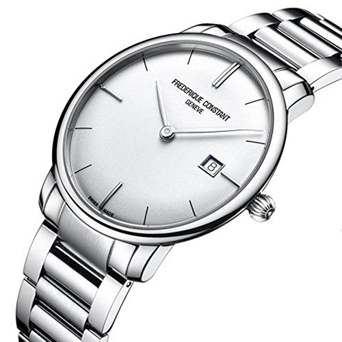 Frederique Constant Men 's fc306s4s6b3Slim Line Analog Display Swiss Automatic Silver Watch