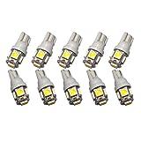 [Hama-kana] 5連LED 10個 T10 ウエッジ球 LEDバルブ 12v用 ホワイト 長寿命 5SMD HK-G003-10