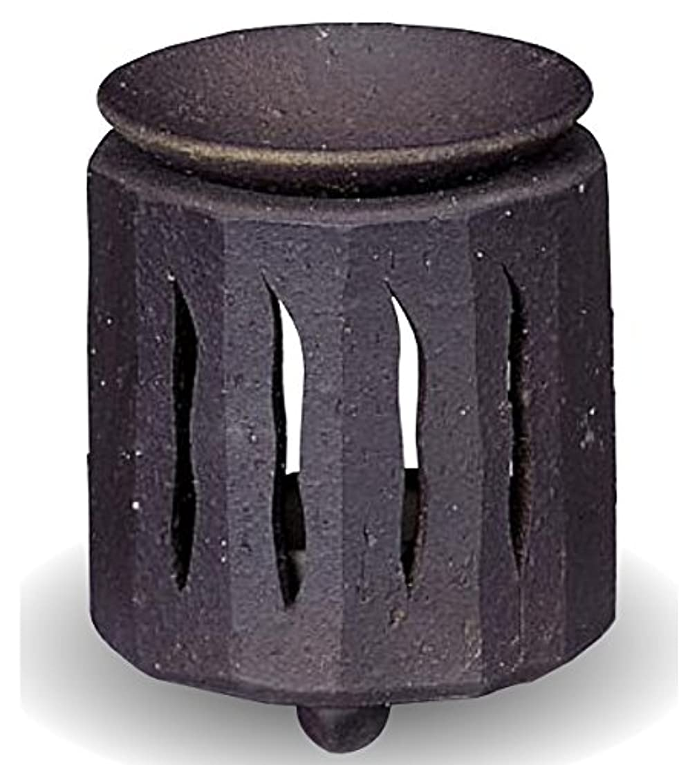 定常大理石セメント常滑焼 茶香炉(アロマポット)径9×高さ11cm