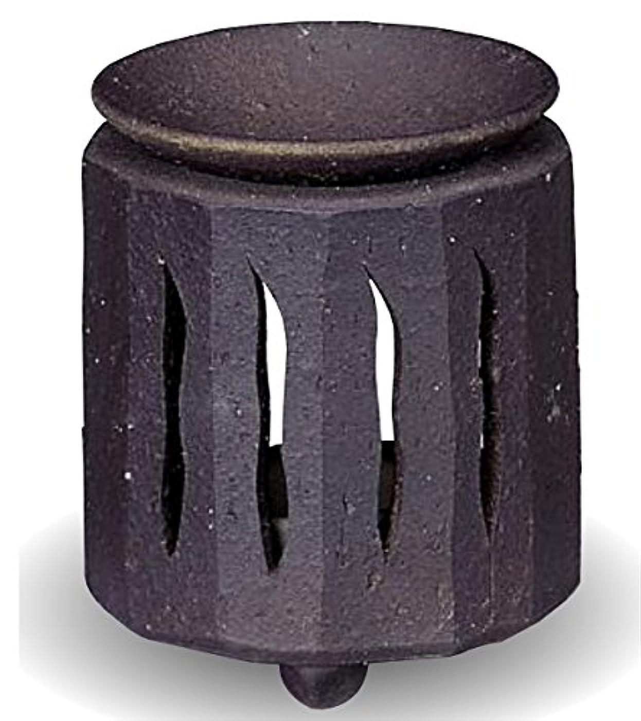 ショッピングセンター定常ジーンズ常滑焼 茶香炉(アロマポット)径9×高さ11cm