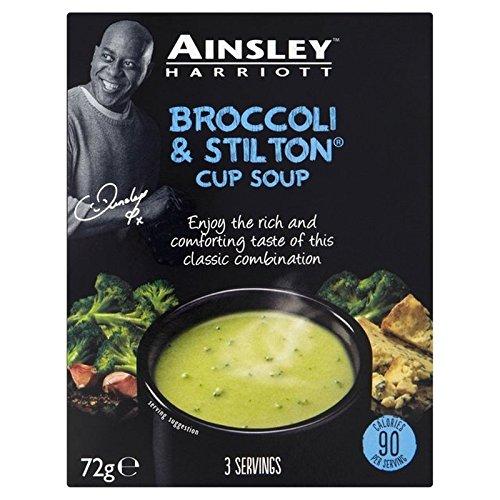 エインズリーハリオットブロッコリー&スティルトンカップスープ72グラム (x 2) - Ainsley Harriot Broccoli & Stilton Cup Soup 72g (Pack of 2) [並行輸入品]