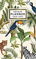 Pocket Planner 2020-2021: Tropical Two Year (24 Months) Monthly Pocket Planner & Schedule Agenda   2 Year Organizer with Phone Book, Password Log & Notes   Nifty Exotic Birds & Jungle Animals