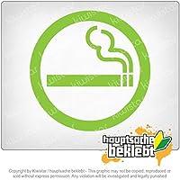 禁煙 Non-Smoking 11cm x 11cm 15色 - ネオン+クロム! ステッカービニールオートバイ