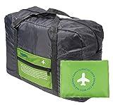 (エリニカ) elinika 空の旅を快適に 折りたたみ バッグ 機内 持ち込み 用 ボストンバッグ (01:ノルディックグリーン)
