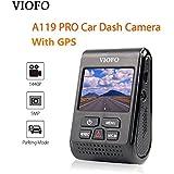 VIOFO A119 PRO Dash Cam With GPS Car Dash Camera 2K HD 1440P 1296P 30fps 1080P 60/30fps 5PM Capacitor Camera DVR F1.8 130°FOV Video Recorder G-sensor