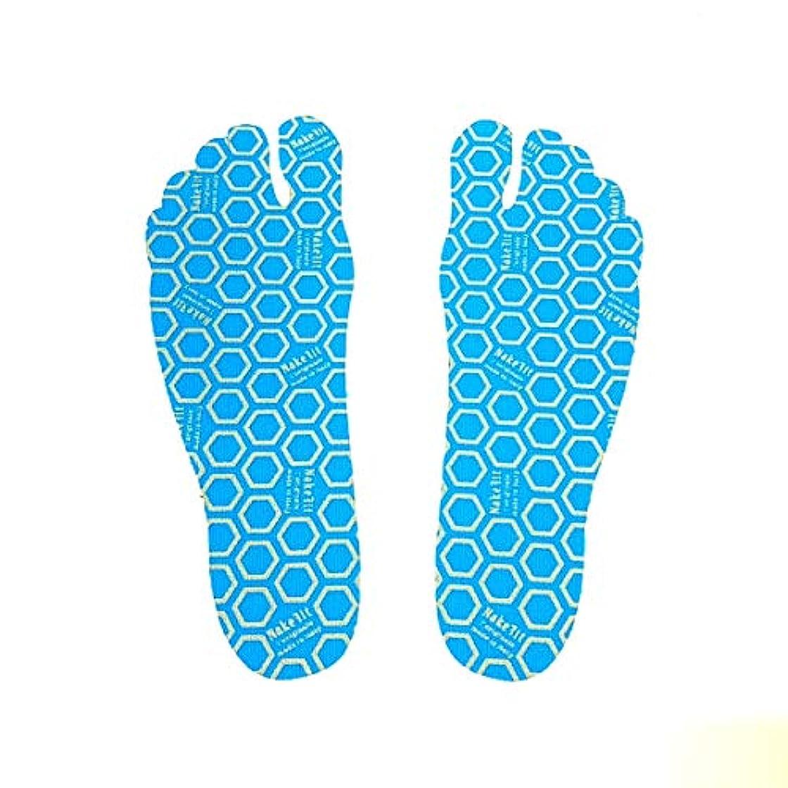 開梱強いますスリット[NAKEFIT] ネイクフィット 足裏に貼る サンダル 裸足 貼り付け シール プール ビーチ 転倒防止 1パック3ペア入り