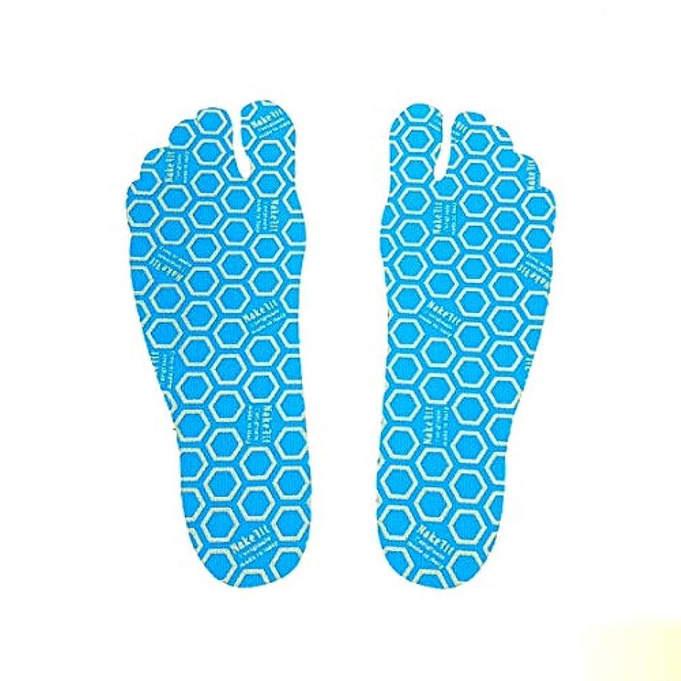 スペース降雨おかしい[NAKEFIT] ネイクフィット 足裏に貼る サンダル 裸足 貼り付け シール プール ビーチ 転倒防止 1パック3ペア入り