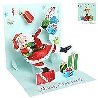 3dクリスマスグリーティングカード–サンタのギフトTier