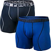 """TSLA Men's (Pack of 2, 3) Relaxed Stretch Cool Dry Brief Underwear Trunk 6"""" / 9"""""""