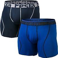 (テスラ)TESLA メンズ ボクサーブリーフ 6インチ 2枚セット [吸汗速乾・通気性] coolドライ スポーツ アンダーウェア (1サイズダウン) MBU