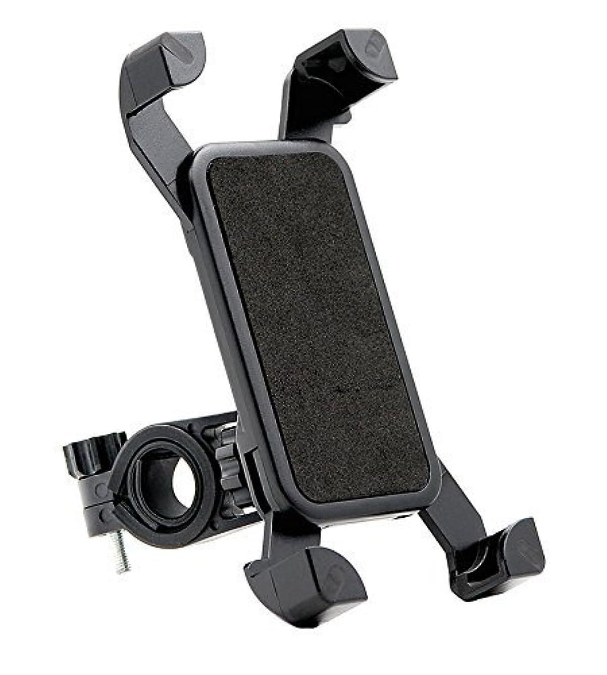 符号麦芽正当なAutotime バイク 自転車 スマホ ホルダー 360度回転 iPhone Garaxy Xperia 多機種対応 厚さ調整パッド付属 脱落防止 GPSナビ バーマウントキット