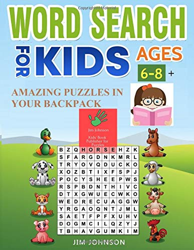 WORD SEARCH FOR KIDS AGES 6-8 + Amazing puzzles in your backpack