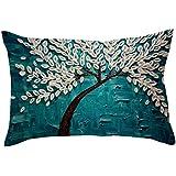 Rectangle Pillow Case Cover Cushion Toss Tossow Hidden Zipper Closure Pillow Case Rectangle 30 * 50cm,P