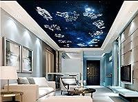 Wapel 家の装飾の天井天頂の 3 次元立体壁紙天井の家の装飾の壁画壁紙 3 d 絹の布 300x210CM