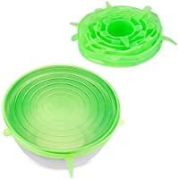 Super Stretch Lids -Silicone Stretch Perishable Foods Storage Lids - 8 pk
