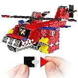 FLATBLOCKS ヘリコプターその他多数STEMクリエイティブ教育玩具 フラットブロックパズルを使用して3Dヘリコプターを作るお子様向け6歳以上向けの構築教育玩具。