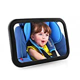 PEDY ベビーミラー 車用 ルームミラー インサイトミラー カーミラ 安全 子供の様子が確認 補助ミラー 360度調節可能 (ブラック)