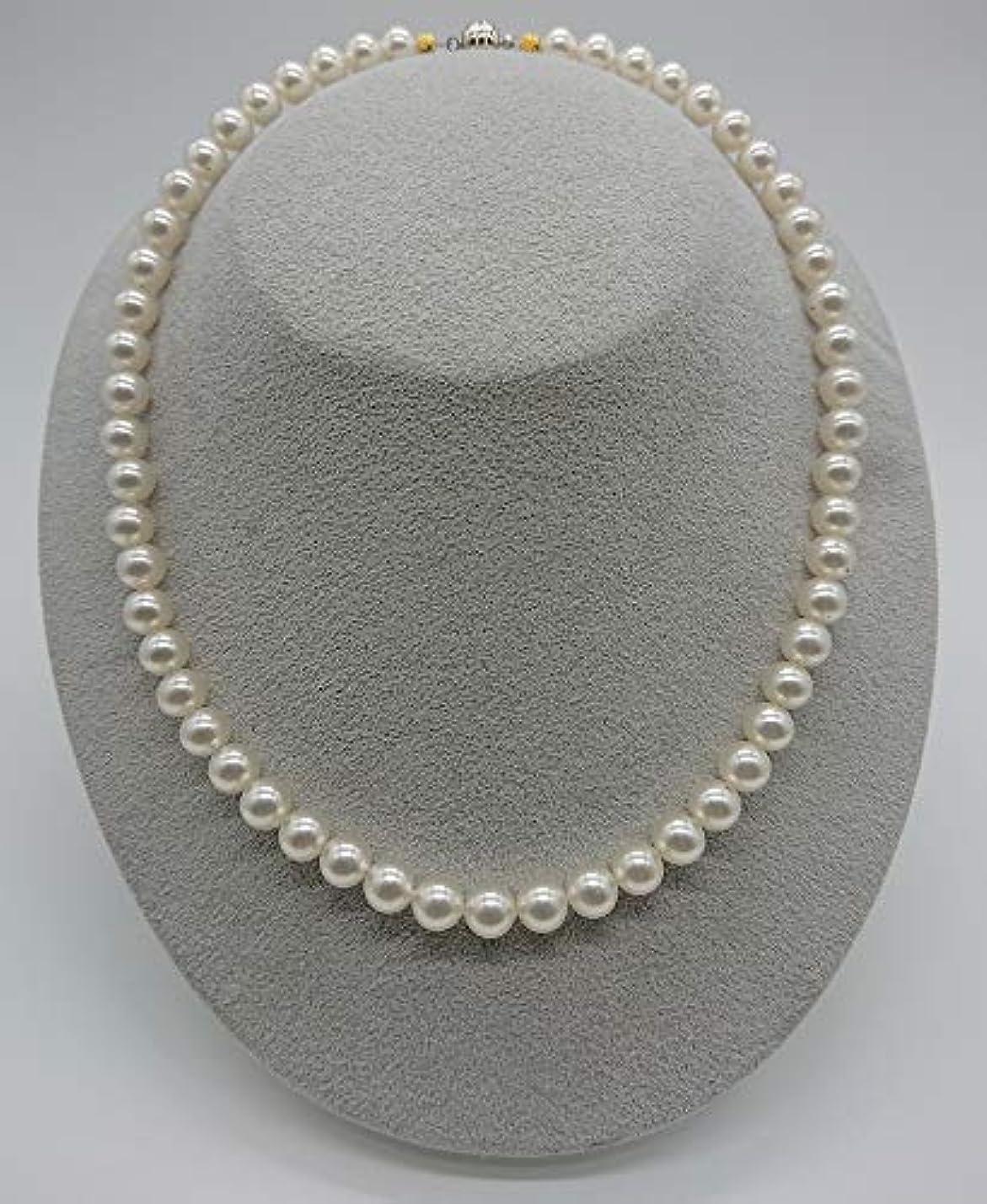 レッドデートアクセシブル正気Dr.Silicone 真珠スタイル健康エネルギーネックレス(白)8mm珠60cm:世界で唯一無二、身に着けると遠赤外線とマイナスイオンが良い影響をもたらします!