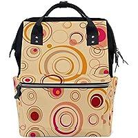 ママバッグ マザーズバッグ リュックサック ハンドバッグ 旅行用 輪柄 赤 ファション