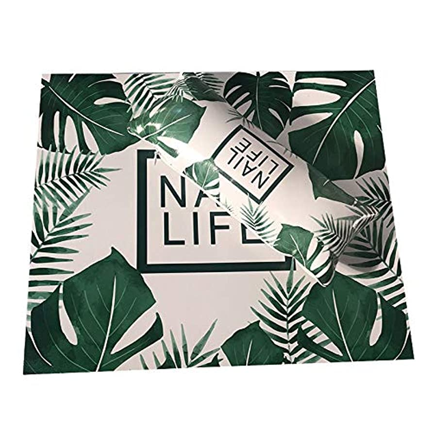 噛む従事した正義TOOGOO ネイルアート用手枕のクッション、ネイルポリッシュのホルダー、ソフト、Puレザー、スポンジのアームレスト、ストライプのデザイン、サロンのマニキュア(植物#)
