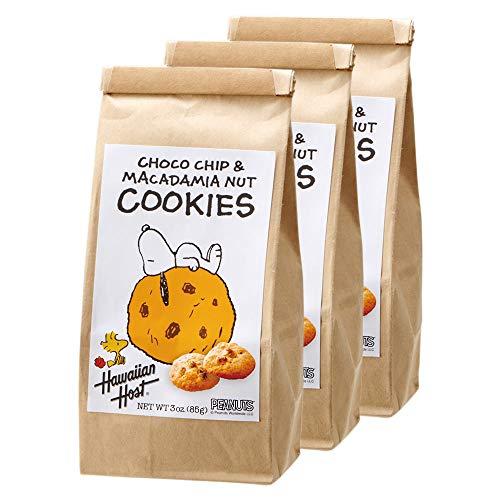 ハワイアンホースト( Hawaiian Host) スヌーピー マカデミアナッツ チョコチップ クッキー 3袋セット a【アメリカ 海外土産 輸入食品 スイーツ 】
