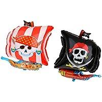 Lovoski 2個/セット バルーン 海賊バルーン 大きい 贈り物 海洋テーマ 箔 マイラー パーティー ベビーシャワー 装飾