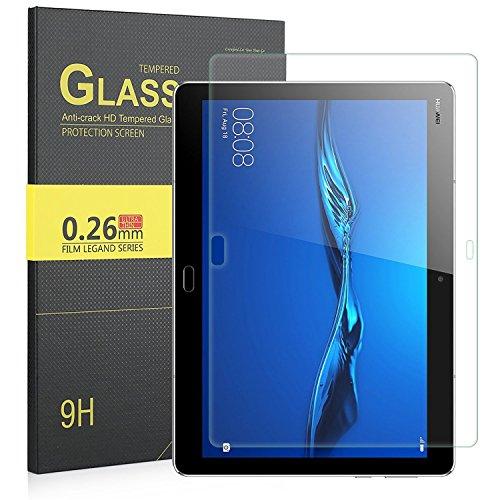 IVSO Huawei M3 Lite 10 ガラスフィルム Huawei 10.0インチ M3 lite 強化ガラスフィルム 耐指紋 撥油性 表面硬度9H ラウンド加工処理 飛散防止処理 高透過率 反射低減タイプ 光沢表面仕様 画面保護 指紋防止 保護シート - Huawei Mediapad M3 Lite 10.1 専用 液晶保護フィルム