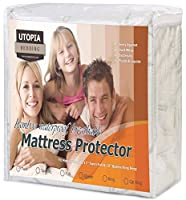 (TWINXL) - Waterproof Bamboo Mattress Protector - Hypoallergenic fitted Mattress Cover - Breathable Cool Flow Technology - Vinyl Free (Twin XL) - by Utopia Bedding
