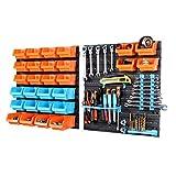 life_mart 部品収納ケース 42P ツールボックス パーツボックス 工具収納セット キャビネット 壁掛け ネジ ナット ワッシャー ボルト