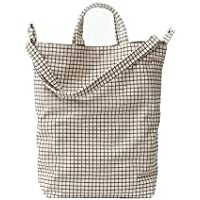 BAGGU Duck Bag Canvas Tote - Natural Grid (2018)
