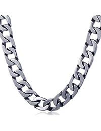 Trendsmax メンズ ネックレス 喜平 チェーン クラシック 316L ステンレス ネックレス 重量感 幅:13mm シルバー 銀色